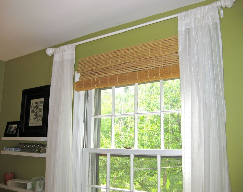 Home Interiors Contemporary Bamboo Rattan Window Shades Also