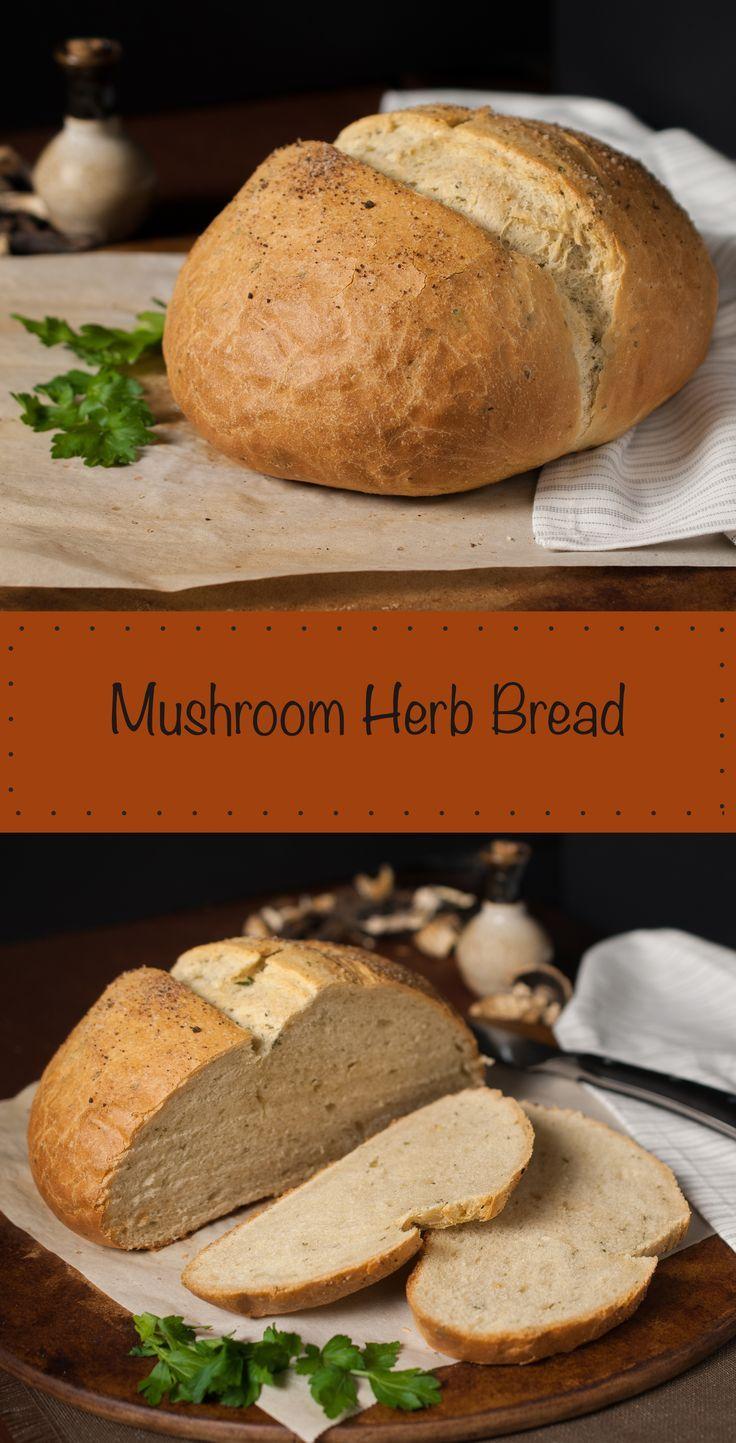 Wild Mushroom Herb Bread | Recipe | Herb bread, Stuffed ...