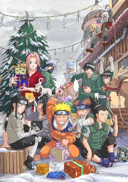 Merry Christmas Anime.Merry Christmas Naruto Style Naruto Anime Pinned From