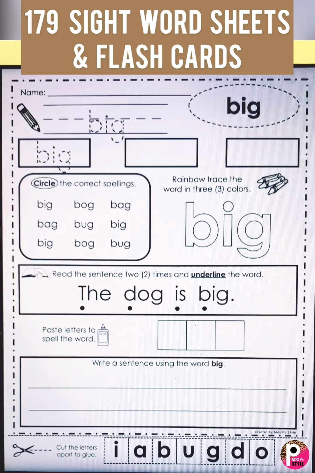 This Bundle Of Sight Word Pages Provide Many Ways To