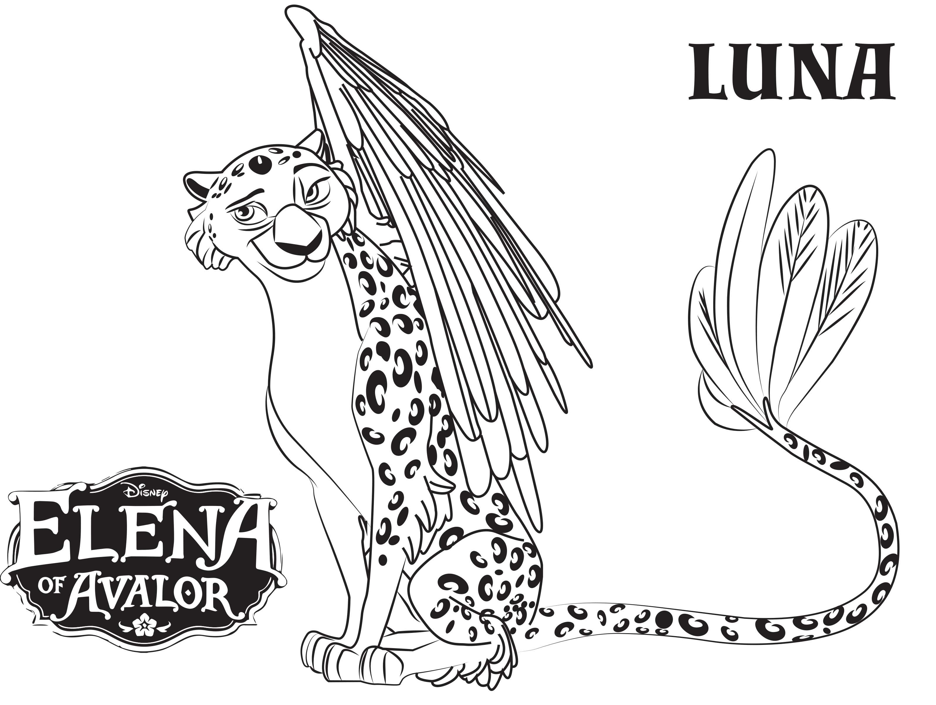 Disney's Elena of Avalor Coloring Pages Sheet, Free Disney