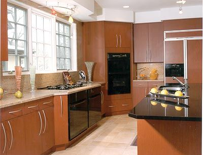 Black Appliances Contemporary Kitchen Photos Vittoria Place