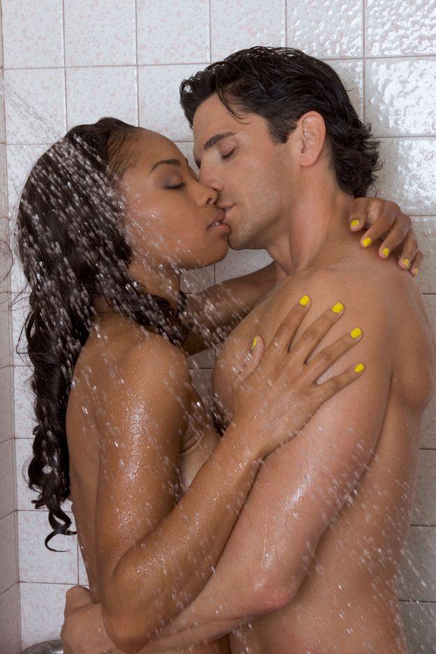 Man massaging woman pussy