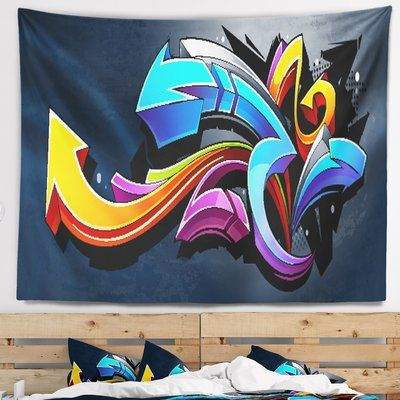 East Urban Home Graffiti Direction Street Art Tapestry is part of home Art Graffiti -