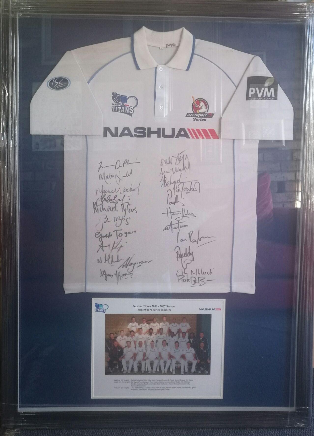 Another Cricket Jersey beautifully framed by the Kretschmann art ...