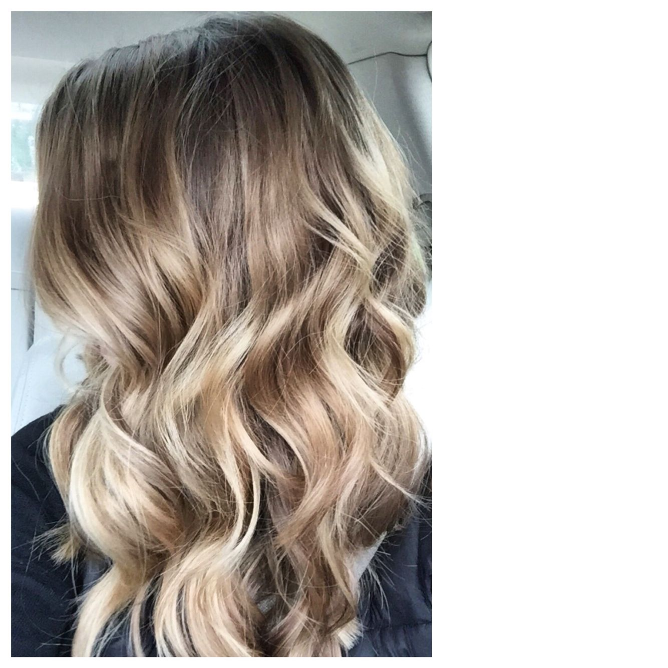 Balayage Style Color With S Me Copper And Blonde Mixed Into A