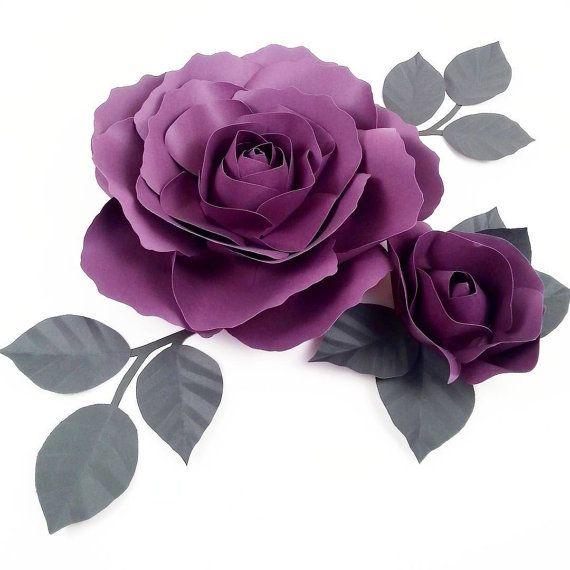 Papel flor  flor de papel hecha a mano  colores