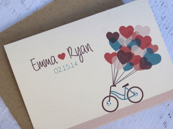 Etsy の Bicycle Love Thank You Notes 16 Pack by peachykeenevents
