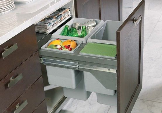 Effective Kitchen Cabinets With Pull Out Trash Cans