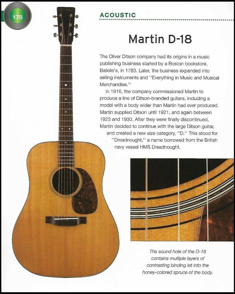 The Martin D 18 Martin 000c 16gte Acoustic Guitar 6 X 8 History Article Print Martin Acoustic Guitar Martin Guitar Martin Acoustic Guitar