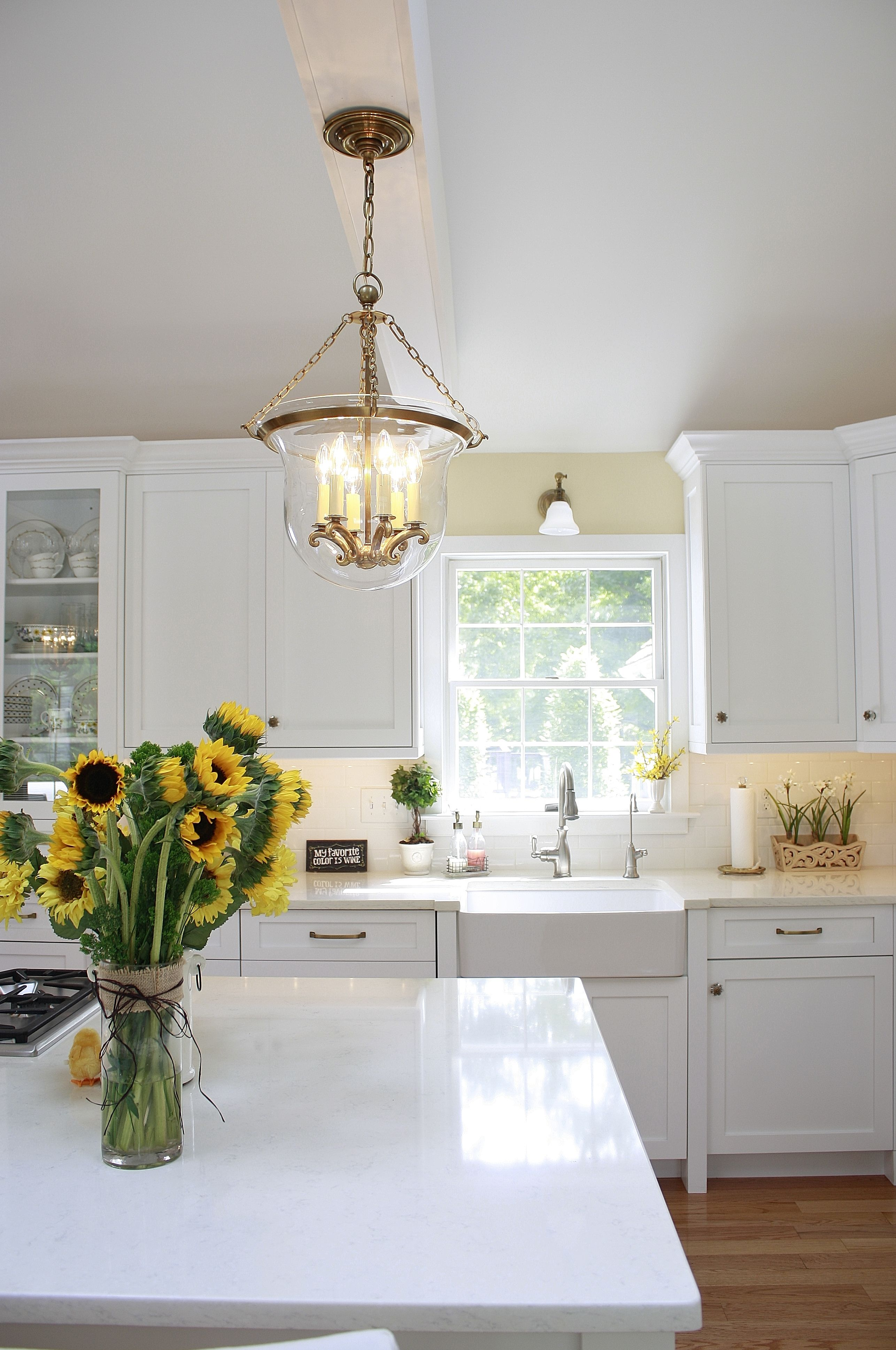 This Beautiful White Kitchen Features Compac Perlino An