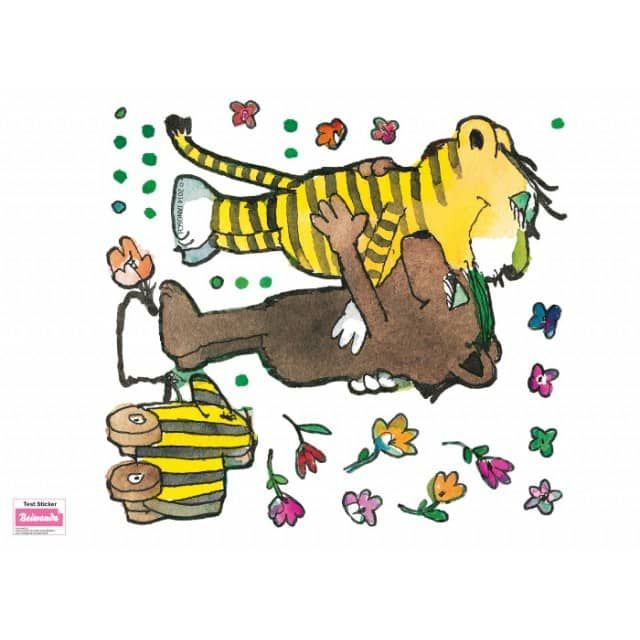 Awesome Wandtattoo Frosch badet Tigerente Beiwanda