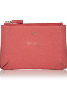 ANYA HINDMARCH Girlie Stuff textured-leather pouch £135