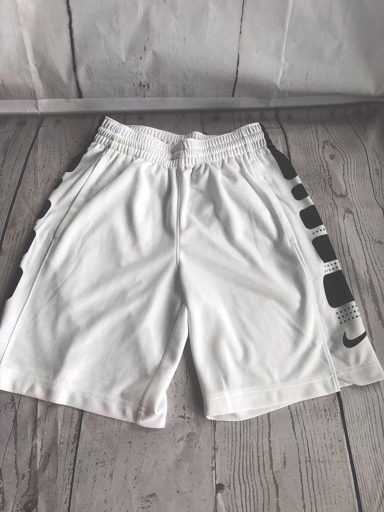 527ec1d8680f NWT NIKE ELITE STRIPE Boys DriFit Basketball Shorts Size S Small White  Black  fashion  clothing  shoes  accessories  kidsclothingshoesaccs ...