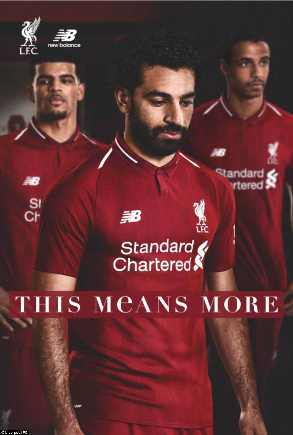 reputable site a4cbf 63c93 Liverpool stars model new home kit for 2018-19 season ...
