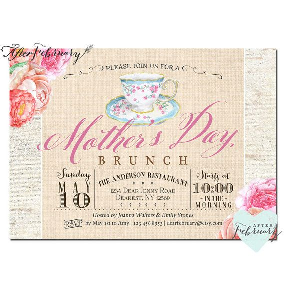 Mother's Day Invitation // Mother's Day Brunch by ...