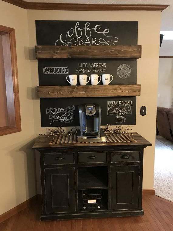 Pin By Charlie Shepherd On For The Home Someday In 2020 Coffee Bar Home Coffee Bars In Kitchen Diy Coffee Bar