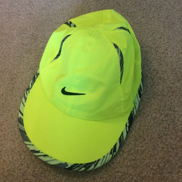 4183188a3c4 Nike Running Hat Neon Yellow or Green Nike running hat