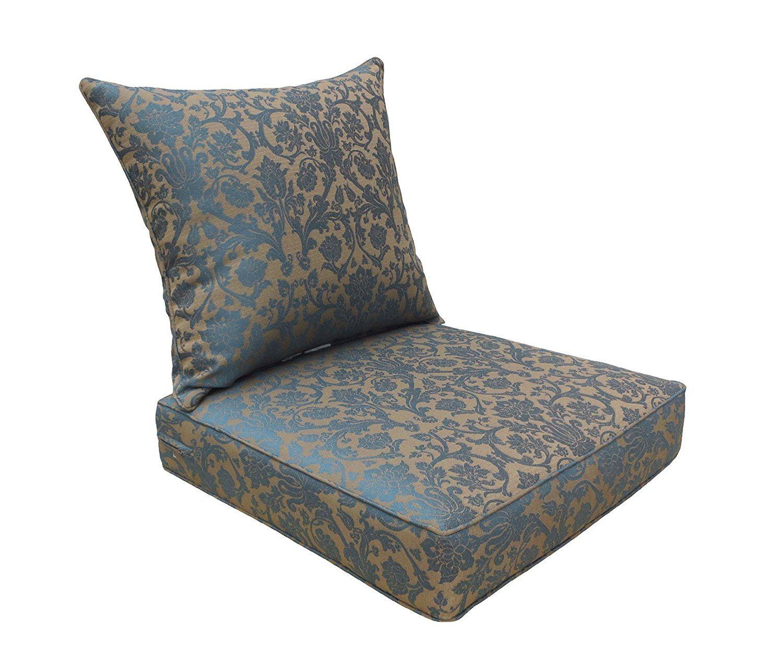 Amazon Com Bossima Indoor And Outdoor Cushion Comfortable Deep Seat Design Premium 24 Inch Replacem Deep Seating Replacement Cushions Outdoor Seat Cushions
