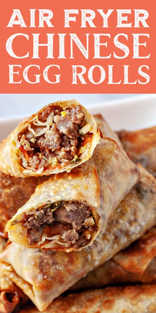 Air Fryer Chinese Egg Rolls #eggrolls