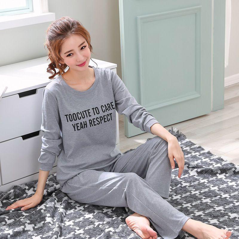 2020  Womens Pajamas Set Spring Autumn Thick Cartoon -9976