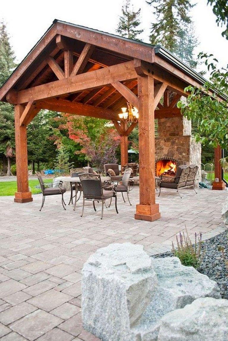 36 Beauty Small Helter House Ideas For Backyard Garden Landscape Outdoor Pavilion Backyard Patio Designs Backyard Garden Landscape