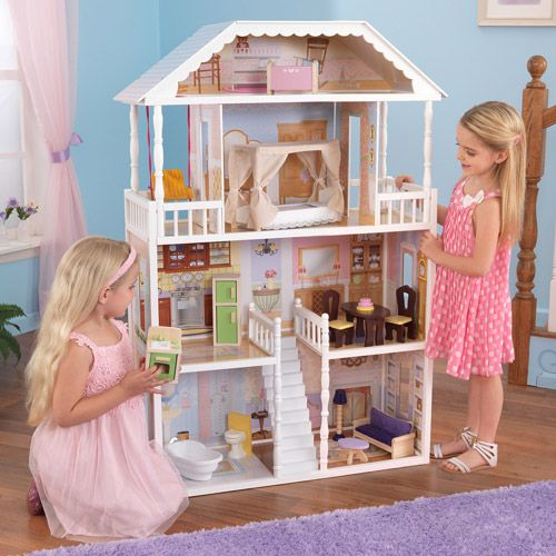 KidKraft Savannah Wooden Dollhouse With 13 Pieces Of Furniture For Sale