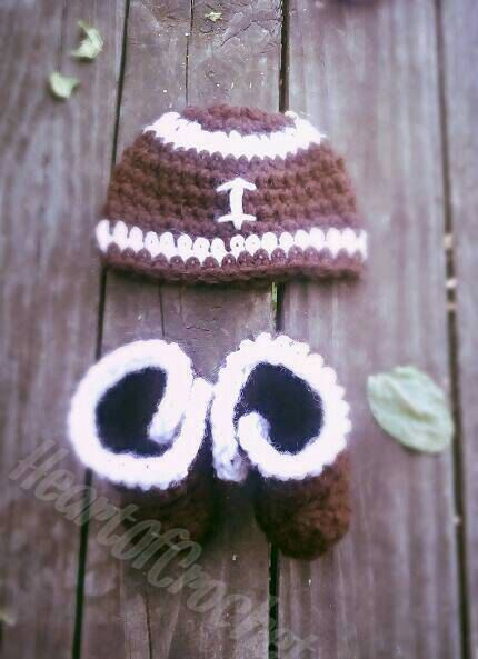 Check out this item in my Etsy shop https://www.etsy.com/listing/244323883/labor-day-sale-football-beanie