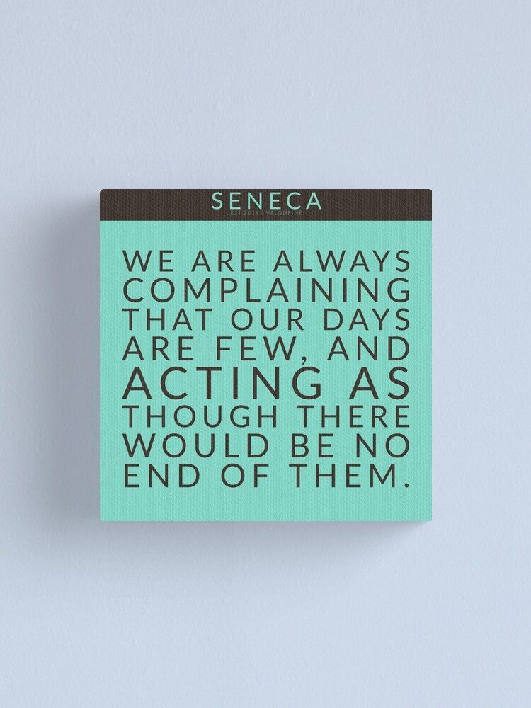 10  | Seneca Quotes 200912  Stoic Quote Stoicism Wise Motivational Inspirational Words  Canvas Print by valourine