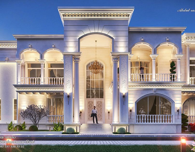 New Classic Palace On Behance House Floor Design Classic House Design Classic House Exterior