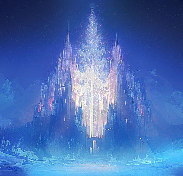 Картинка дворец снежной королевы анимация