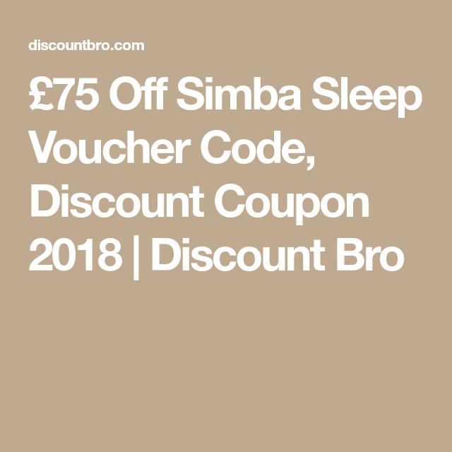 75 Off Simba Sleep Voucher Code Discount Coupon Discount