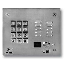 Viking K 1705 3 Color Camera Entry Phone With Key Pad Stainless