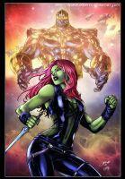 Gamora e Thanos guardiani della galassia