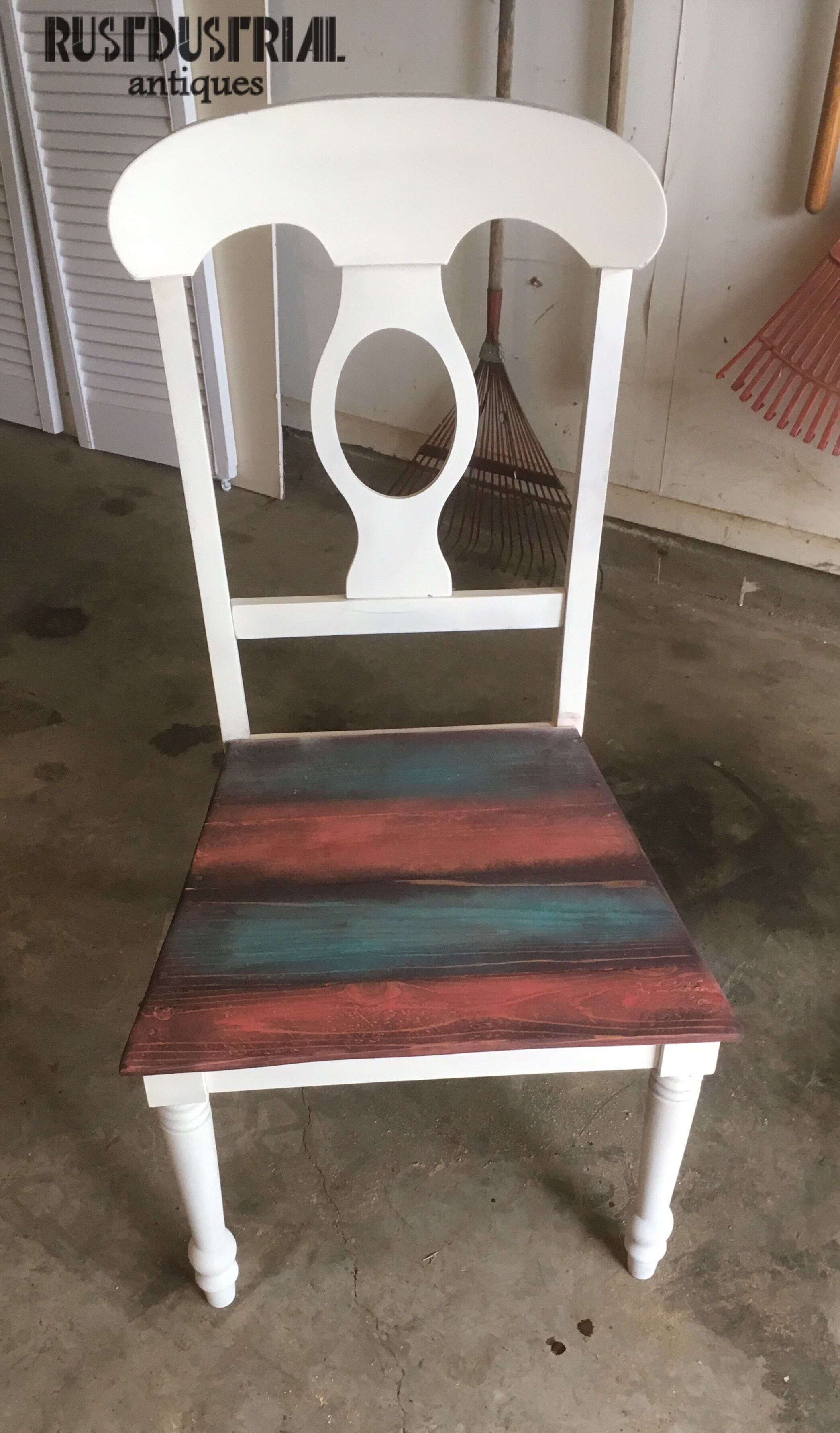 This Chair Was Rescued From The Trash Man And Given New