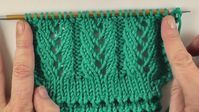 Photo of Knitting pattern * Simple lacer ribs