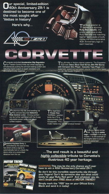 1993 Corvette Zr 1 Corvette Chevrolet Corvette C4 Corvette C4