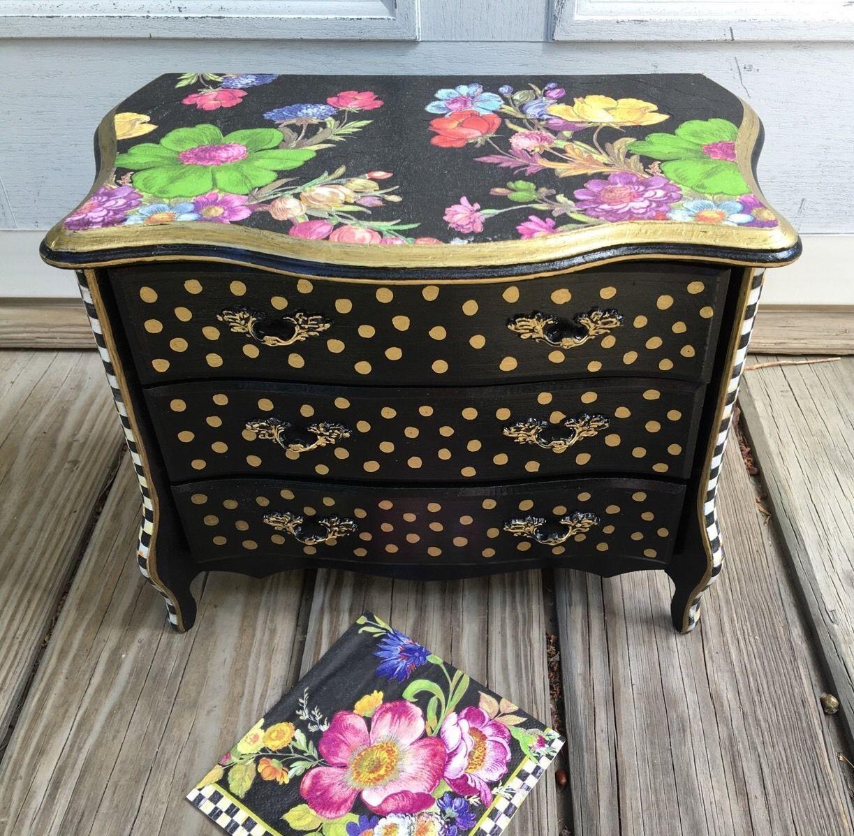 MY OWN Jewelry Box Mini Dresser MacKenzieChilds Decoupage