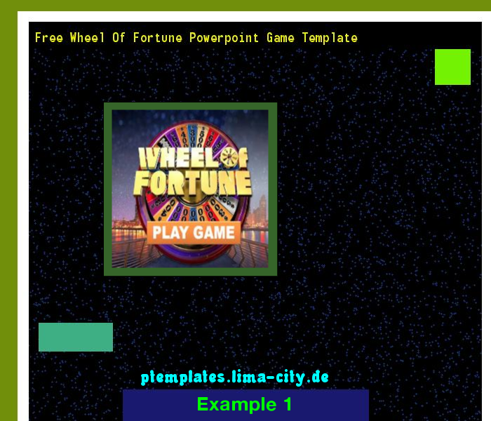 Free Wheel Of Fortune Powerpoint Game Template Powerpoint Templates