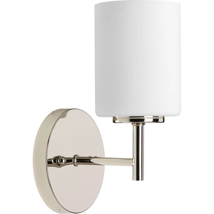 Progress Lighting Replay 1 Light 9 75 In Polished Nickel Cylinder Vanity Light 32 40 Hal Progress Lighting Indoor Wall Sconces Bathroom Wall Sconces
