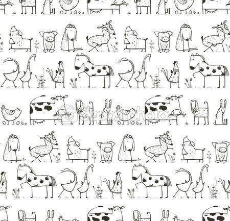 animales salvajes y domesticos para colorear - Buscar con Google ...