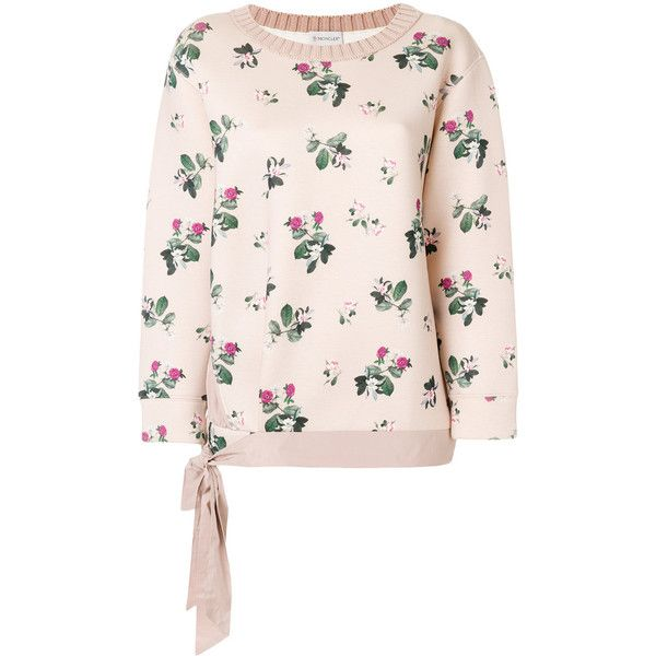 Moncler floral embroidered sweater ($690) ❤ liked on Polyvore ...