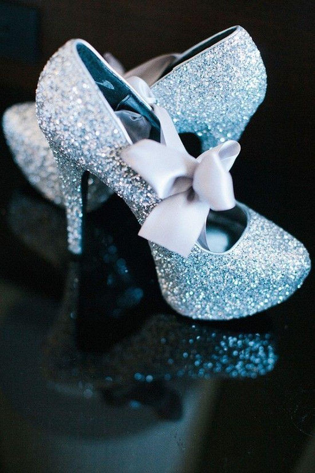 20 Incredible Cinderella Wedding Shoes Inspiration