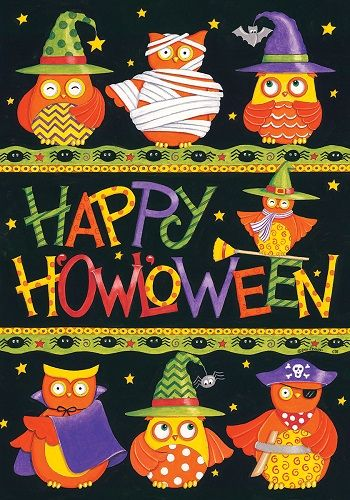 Happy Halloween Owls In Costumes 12 X 18 Inch Garden Flag Custom Décor:  What An Adorable Halloween Garden Flag! Youu0027ll Eagerly Look Forward To  Decorating ...