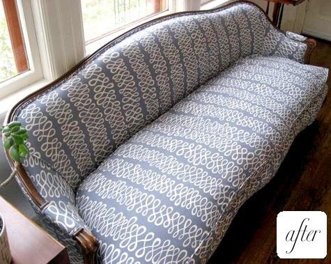 Re Upholstered French Provincial Sofa