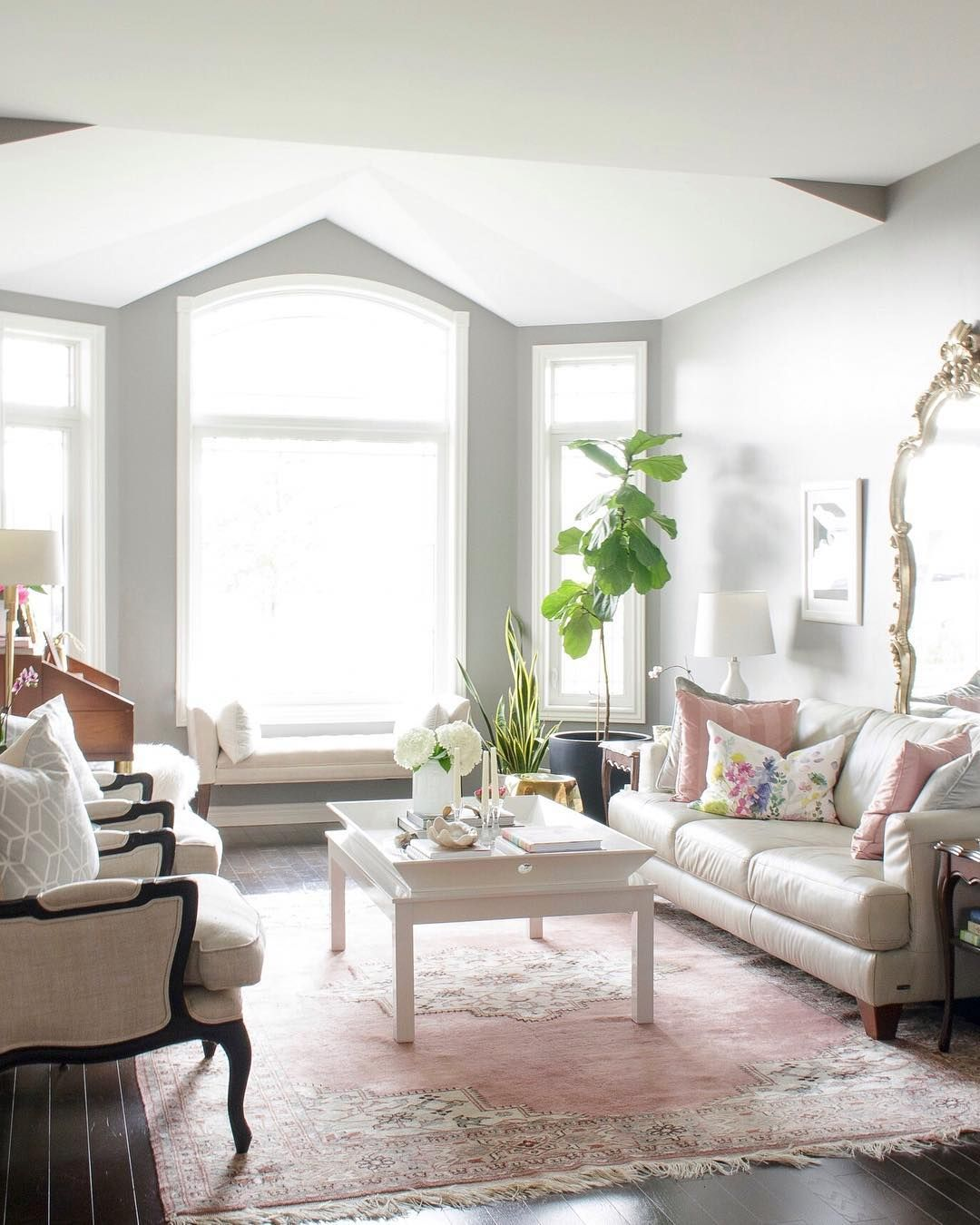 Colorful Vintage Living Room Chairs Composition - Living Room Design ...