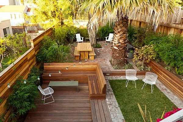 Back yard landscaping ideas landscape design ideas for for Small sloping garden designs