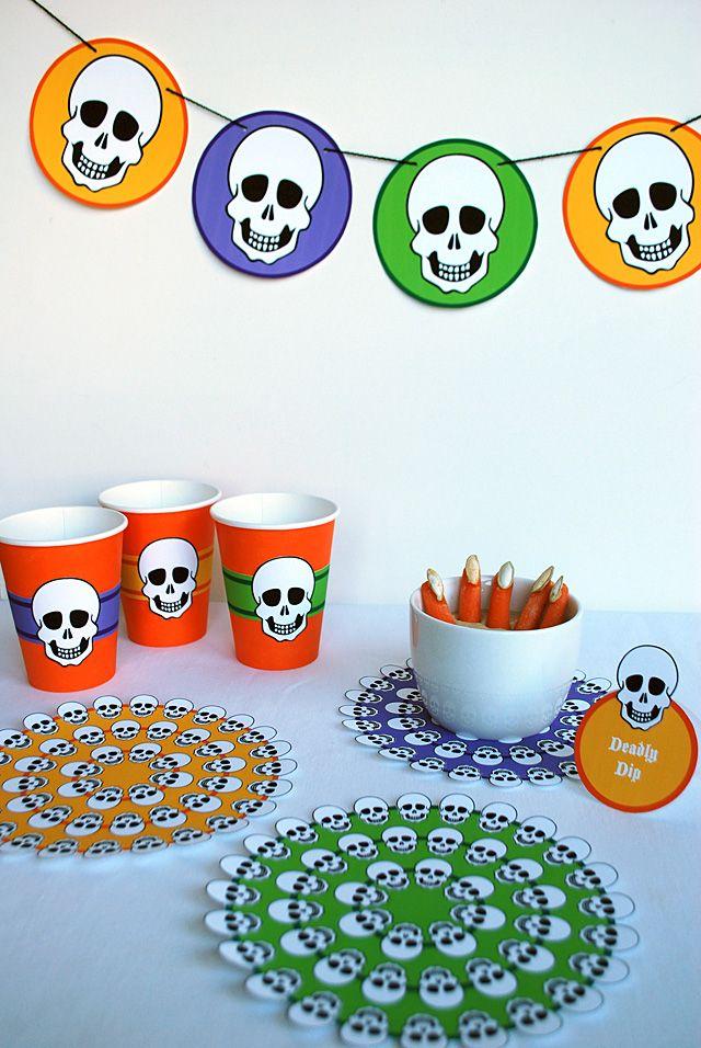 Free Printable Skeleton Halloween Table Decorations  HP Photosmart - free halloween decorations printable