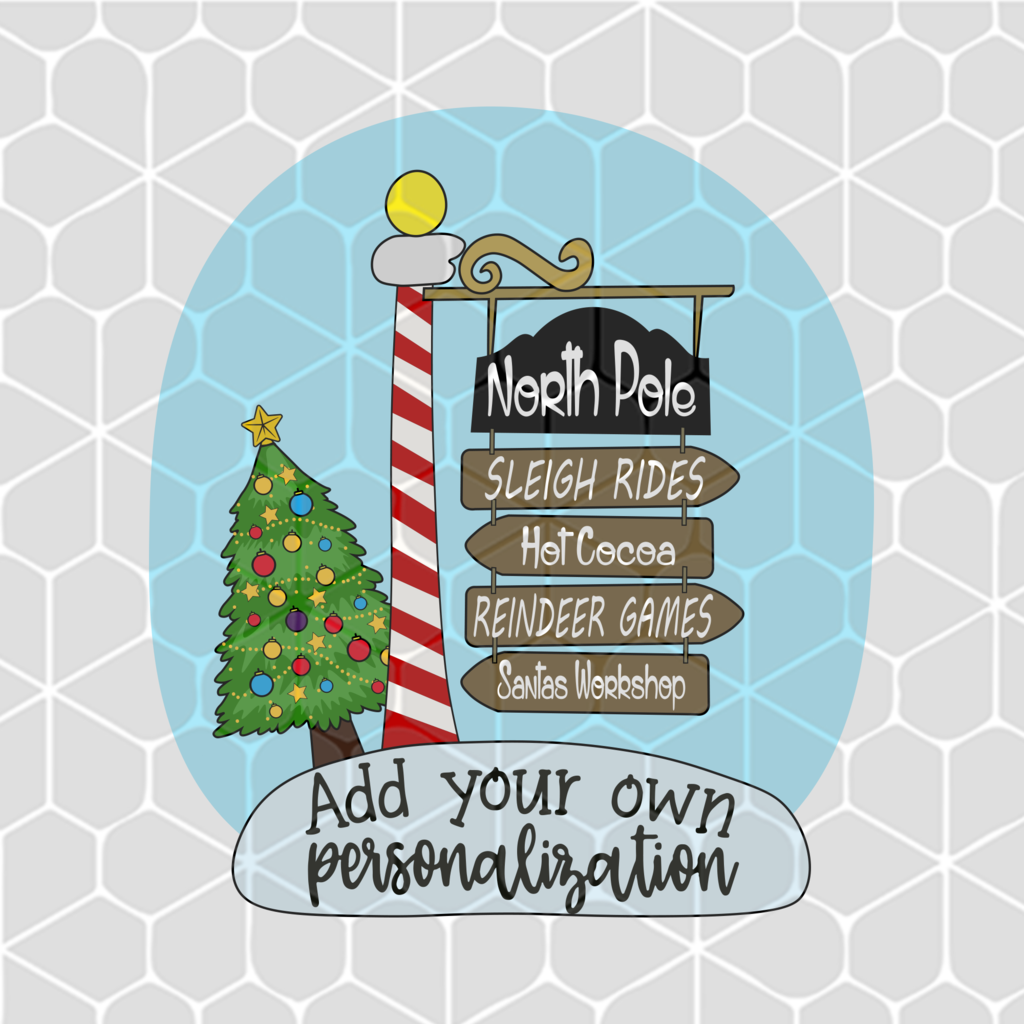North Pole Sign Svg Christmas Svg Files For Silhouette Files For Cricut Svg Dxf Eps Png Instant Download Christmas Svg Files North Pole Sign Christmas Svg