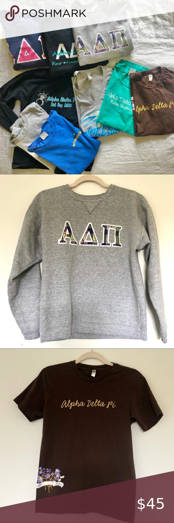 Flash Sale 45 Adpi Miami University Vintage American Apparel Tops Sweatshirts Hoodie Senior Sweatshirts [ 1740 x 580 Pixel ]